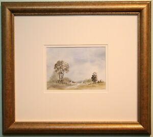 Original Irish Art Watercolour Painting NR SAINTFIELD, CO. DOWN, by MATTIE WAUGH