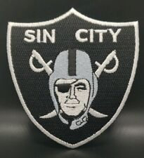 Oakland Raiders~Sin City~Vegas~Embroidered Iron On Patch~Free Shipping from Usa~