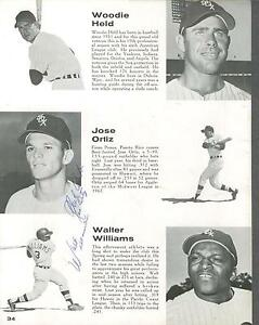 Jose Ortiz signed Chicago White Sox 1969 yearbook page 1947-2011 (tough)