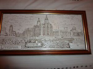 "Liverpool Waterfront Framed  3 d Plaque  18""x 9"""