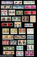 1971 1972 1973 Canada MNH 68 postage stamps • Collection of pairs Superfleas