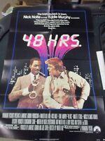 1 Sheet Movie Poster Paramount Pictures 1982 48 Hours Nick Nolte Eddie Murphy