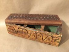 Antique Hand Carved Spice Box