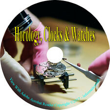93 Horology Books on DVD, Watches Watch Clocks How to Repair Make Adjust Manuals