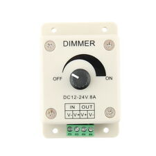 DC 12V 8A LED Light Protect Strip Dimmer Adjustable Brightness Controller  eW