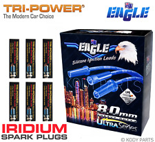 IGNITION LEADS & IRIDIUM PLUGS - for Ford Falcon EA EB ED XG 6cyl 4.0L 3.9L TPX