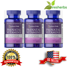 Prenatal Multi Vitamins Female Pregnancy Folic Iron Zinc Supplement 300 Caplets