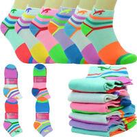 12 Pairs Women Fashion Cotton School Plain Ankle Low Cut Socks Size 9-11 cat s
