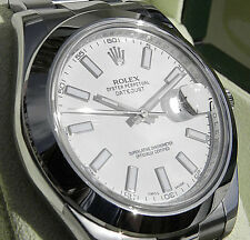 Rolex Datejust II 116300 Stainless Steel White Index Dial 41mm Domed Bezel Watch