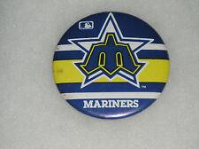 "Seattle Mariners Washington Pin Button MLB Baseball Pinback Pin Back 3.5"""