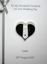 Personalised Wedding Day Card Husband To Be Brother Son