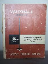 Vauxhall Serie Fb-servicio manual de formación-equipos eléctricos 1962