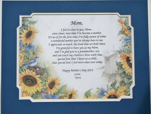 Personalized Poem for Mom ** Mother's Days or Birthday Gift Idea **L@@K**