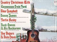 """FERLIN HUSKY """"COUNTRY CHRISTMAS"""" LP 1967 capitol"""