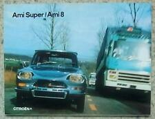 CITROEN AMI SUPER & AMI 8 Car Sales Brochure March 1973