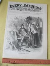 Vintage Print,YANKEE PEDLER,Cover,Every Saturday,1870,Occupations
