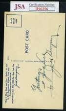 Jack Dempsey JSA Cert Autograph Vintage Postcard Hand Signed