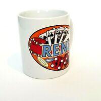 Reno Coffee Mug 2004 Gambling Cards Dice Poker NV Nevada Souvenir Vintage