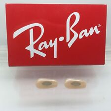 Authentic Rayban RB 3016 Clubmaster Replacement  Crimp On Tan / Brown Nose Pads