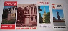 4 brochures and map Leningrad Russia Soviet Union Ussr Aeroflot Intourist 1969