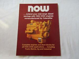 CAT Caterpillar 1100 3100 engine re-manufacture process brochure