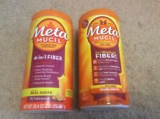 LOTTO di 2 Metamucil Psyllium fibra supplemento 30.4 OZ Nuovo sigillato EXP 2022