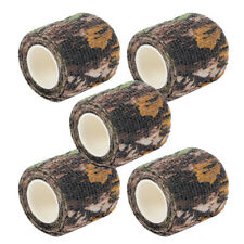 5 Rolls 5CM*4.5M Bionic camo Gun Wrap Rifle Gun Hunting Camouflage Stealth Tape