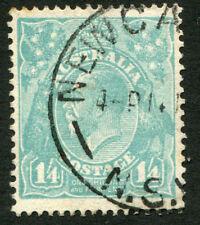 KGV - CofA Wmk: 1/4 Greenish-Blue, FU Single with variety. Unlisted in BW.