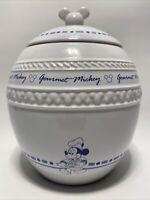 EUC DISNEY GOURMET MICKEY COOKIE JAR, Round, White