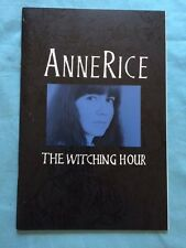 THE WITCHING HOUR: ADVANCE EXCERPT - SIGNED BY ANNE RICE