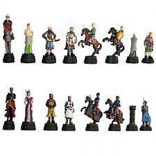 "Medieval Crusades Metal Pewter Chessmen Pieces Figures 3"" King New"