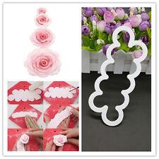 Top New 3D Rose Flower Fondant Cake Chocolate Sugarcraft Mould Mold Decor Tool