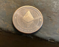 Ethereum Crypto Currency .999 Copper Coin 1 Oz. BLEMISH Novelty Bitcoin BTC ETH