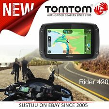TomTom Rider 420│Motorcycle GPS SatNav│LifeTime UK Europe Maps & Traffic Updates