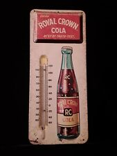 """VINTAGE ROYAL CROWN COLA ADVERTISING THERMOMETER 13 1/2"""" T x 5 W"""