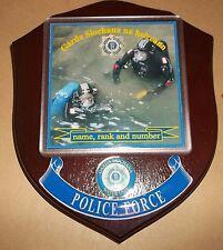 Irish Police/Garda Search & Rescue Diver Wall Plaque personalised free.