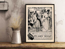 VINTAGE RETRO ADVERT PEARS SOAP BATHROOM HOME WALL ART A4 POSTER PRINT