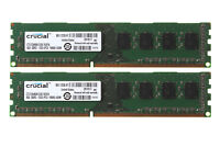 2x Crucial 4GB 2Rx8 PC3-10600U DDR3 1333Mhz 240Pin DIMM RAM Desktop Intel Memory