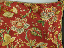 Bay Linens By Dianne Morris 2 King Pillow Sham Red Floral Murano