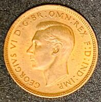 1943 Great Britain 1 Farthing  George VI with 'IND:IMP   (972)