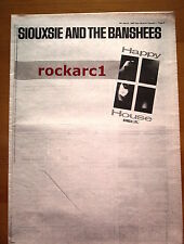 SIOUXSIE & Banshees Happy House 1980 UK Poster size Press ADVERT 16x12 inches