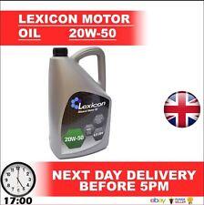LEXICON 20W50 MINERAL MULTIGRADE ENGINE OIL 4.5L MOT1G PETROL & DIESEL ££