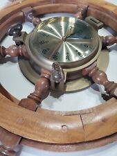 Porthole And Ships Wheel Clock