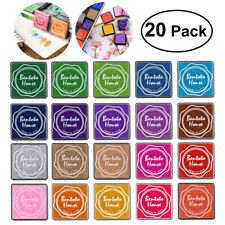 20pcs Multi-colored Giant Ink Pads Stamp Pads for DIY Craft Scrapbooking Ink Pad