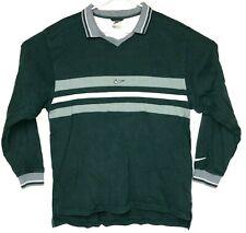 Rare Vintage Nike White Tag Long Sleeve Striped Collared Shirt Mens XL Green