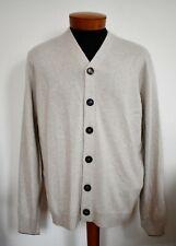 $950 NWT BRUNELLO CUCINELLI 100% CASHMERE Knit Cardigan Sweater EU-54 L