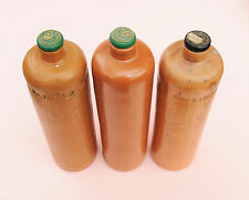 VINTAGE 1880s THREESOME DUTCH STONEWARE BOTTLES