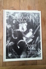 FLEETWOOD MAC Family Man UK magazine ADVERT/Poster/clipping 11x8 inches