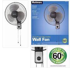 16 Inch Wall Mount Fan 3 Speed Oscillating Metal Pull Cord Quiet Indoor Outdoor