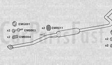 Exhaust Middle Box Honda Civic Aerodeck 1.5 Petrol Estate 02/1998 to 02/1999